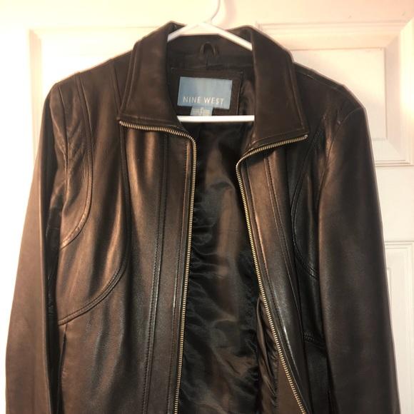 Nine West leather jacket EUC medium